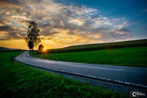 Straße mit Sonnenuntergang | Nikon D5300